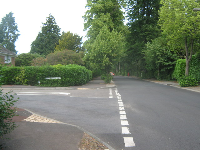 Road junction on Broadwater Down