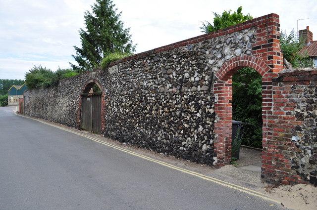 An old flint wall