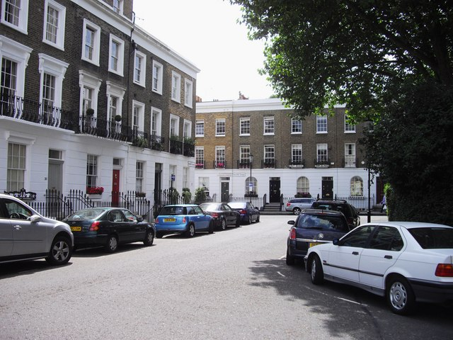 Paultons Square looking toward Danvers Street Chelsea