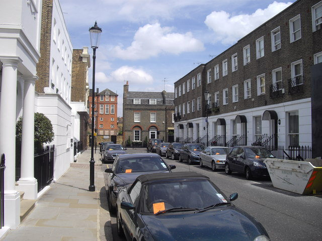 Paulton Street looking toward Old Church Street, Chelsea