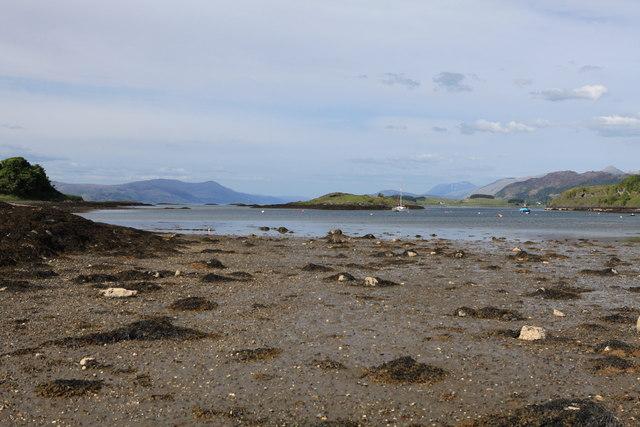 View towards Eilean Droineach, Port Ramsay, Lismore