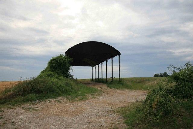 Empty barn nr Marshwood farm