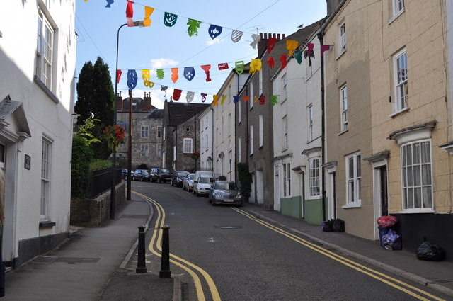 Looking up Bridge Street, Chepstow