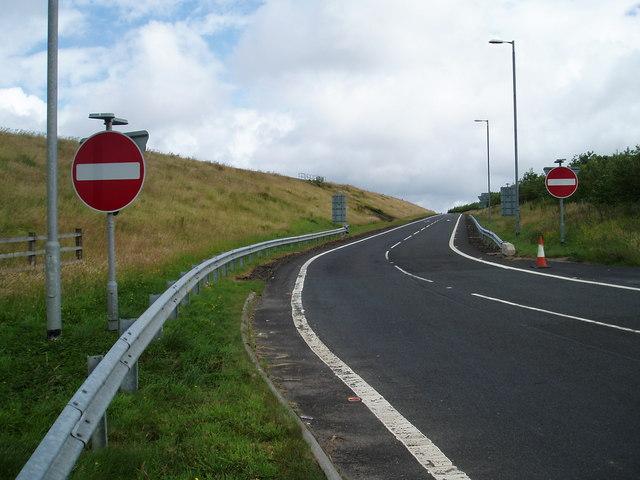 Slip Road Off M77