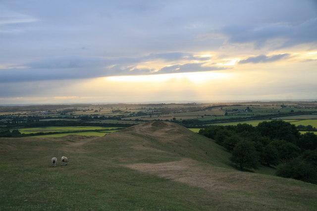 View from Burton Dasset Hills Country Park