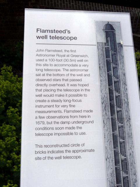 Notice Board regarding Flamsteed's Well Telescope