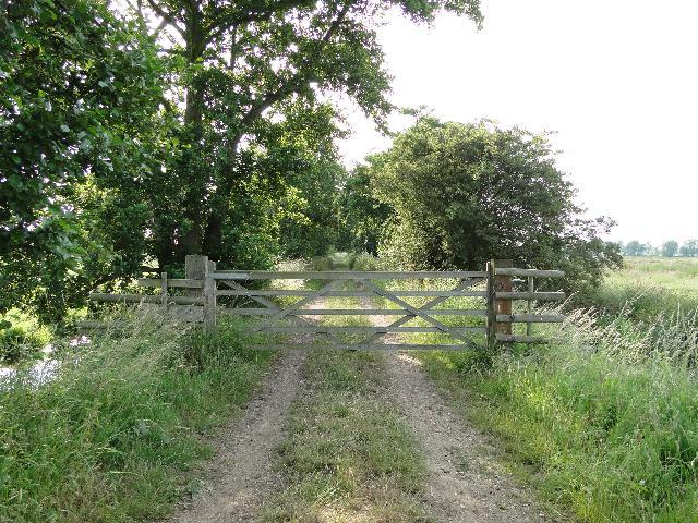 Five-barred Gate on marshland track