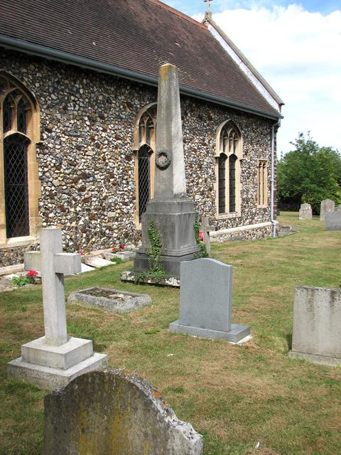 St Peter's church in Cringleford - churchyard