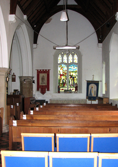 St Peter's church in Cringleford - south aisle