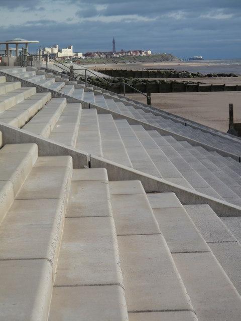 New sea defences, Cleveleys