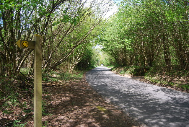 Footpath signpost, Newick Hill