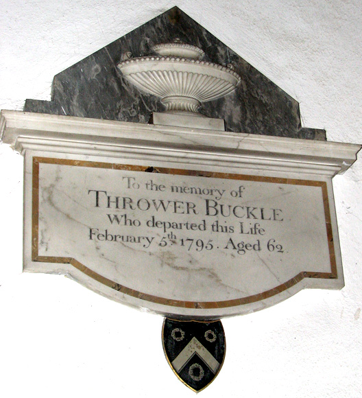 St Peter's church in Cringleford - C18 memorial