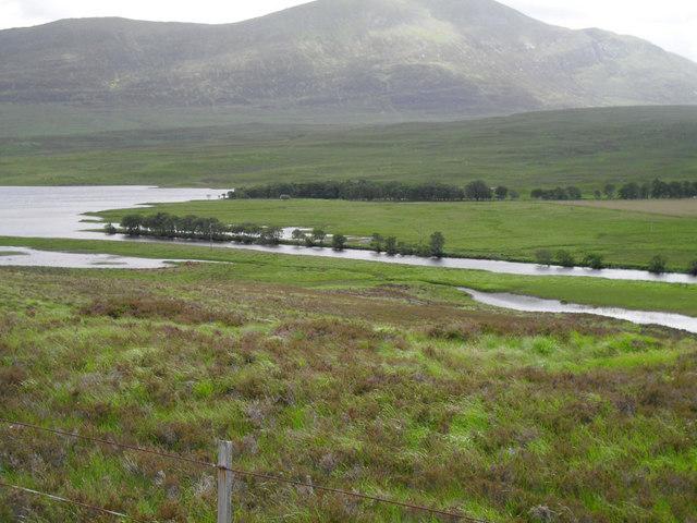River Mudale entering Loch naver