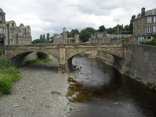The old North Bridge over the Teviot in Hawick