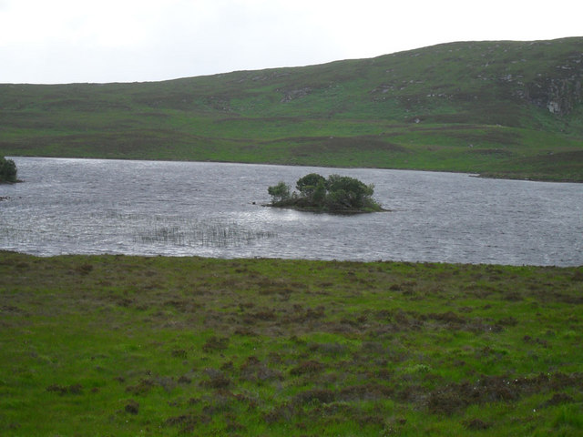 The smaller Island in Loch Rosail