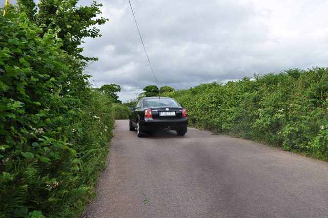 Mid Devon : Seven Crosses Road & Car