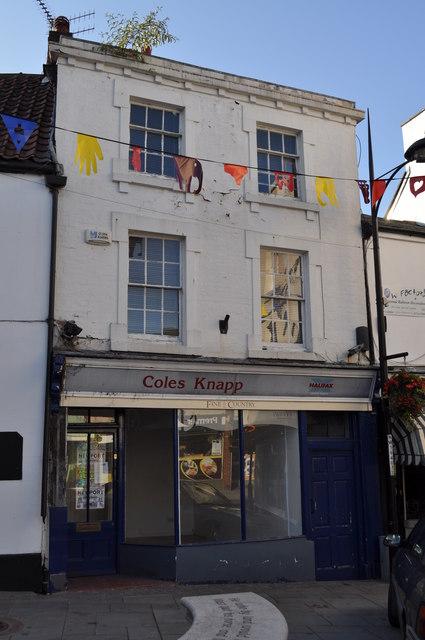Coles Knapp shop front, Chepstow