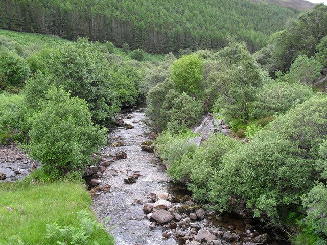 From the bridge in lower Glen Loth