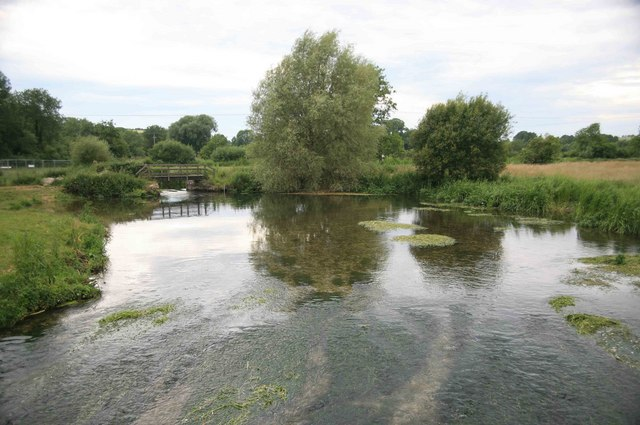 The River Wylye evening view