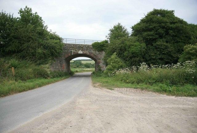 Railway overbridge on the Westbury to Salisbury line