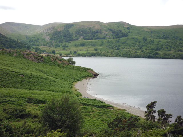 The beach at Silver Bay, Ullswater