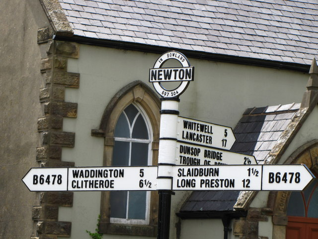Signpost in Newton