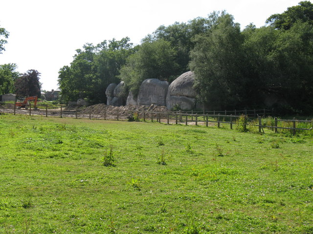 Rock formations near The Hermitage