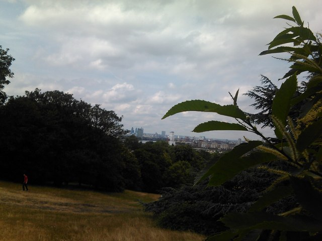 View of London's skyline from the hill in Greenwich Park #2