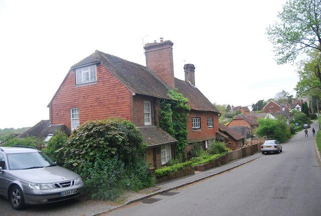 Tile hung cottage, Church Lane