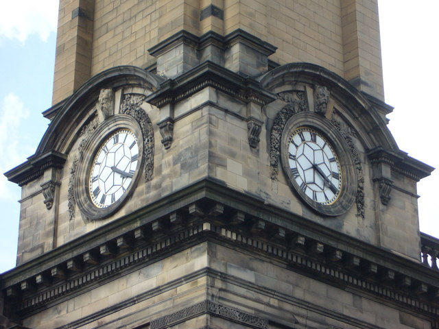 St. George's West clock, Shandwick Place