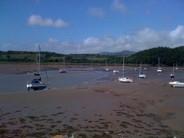Boats at low tide, Kippford