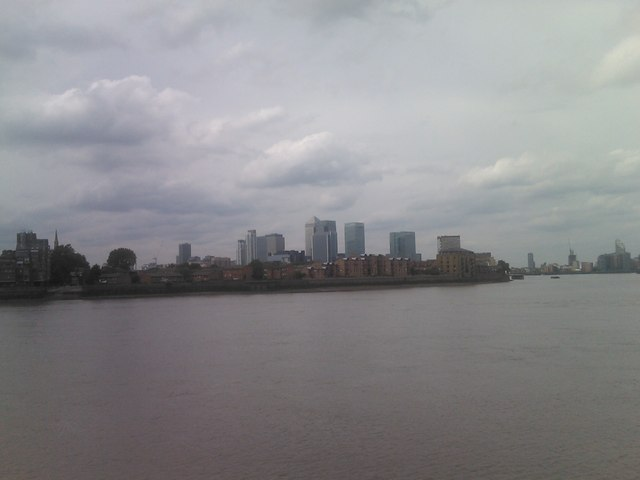 View of Canary Wharf from Ballast Quay