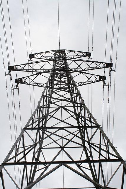 Electricity pylon at Tresamble