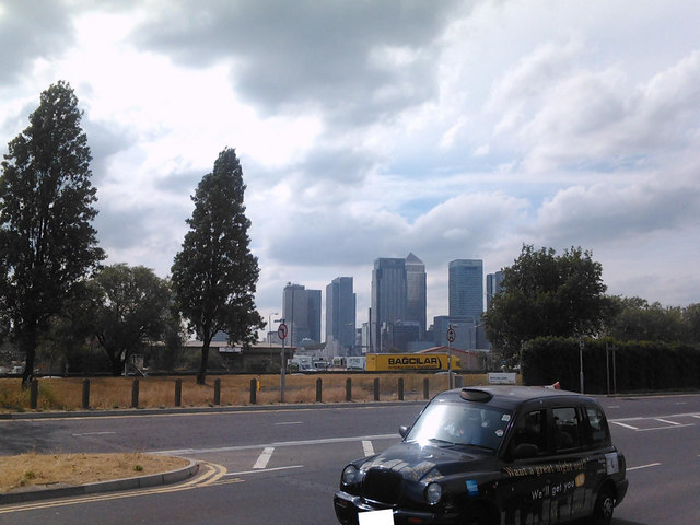 View of Canary Wharf from Millennium Way