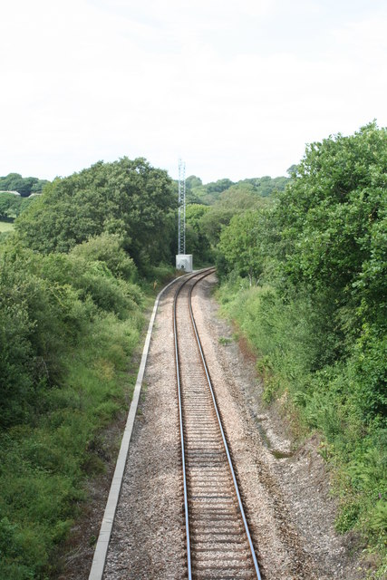 The Falmouth - Truro branch line at Trewedna
