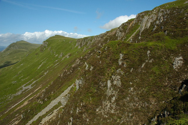 Northern slopes of Craig-y-llyn