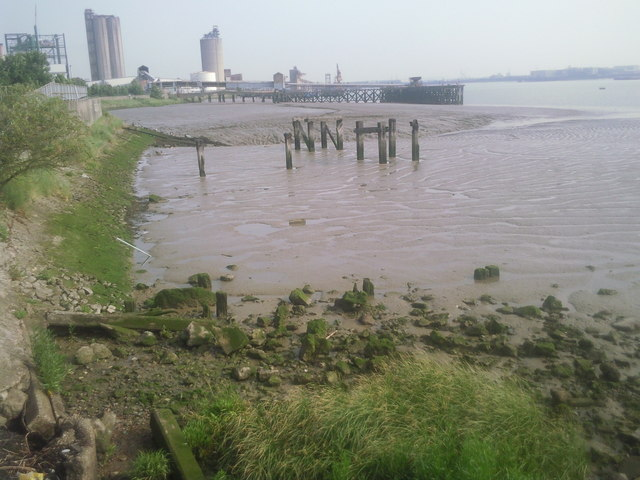 River Thames at Erith at low tide