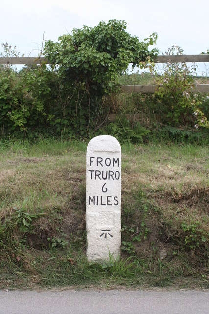 Milestone at Pellynwartha