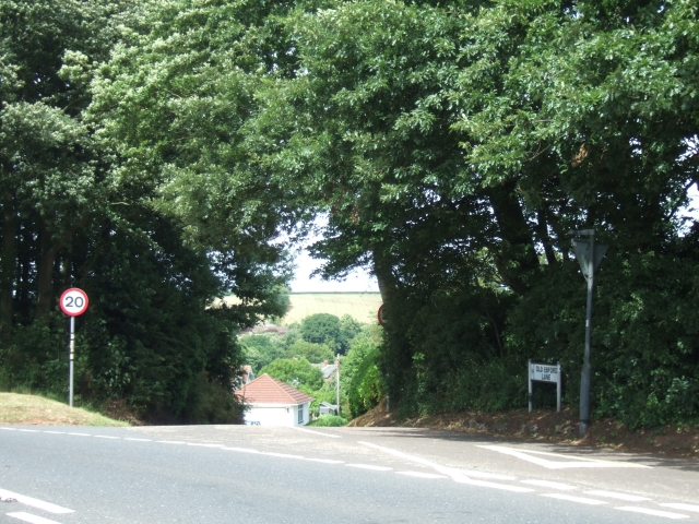 Old Ebford Lane; junction with A376