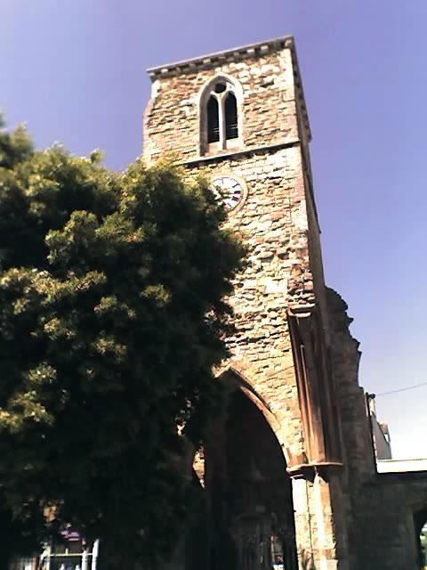 Holyrood Church clock tower