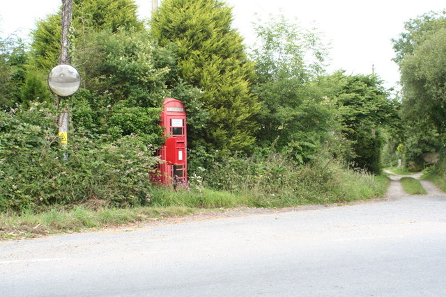 Phone box at Penhalvean