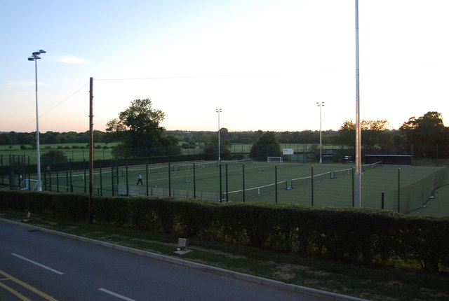 All weather tennis courts, Tonbridge School