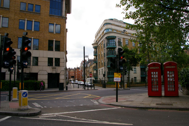 Junction of Chapel Street and Old Marylebone Road, London NW1