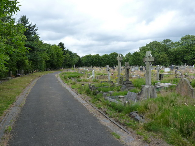 The western side of Bentley Cemetery