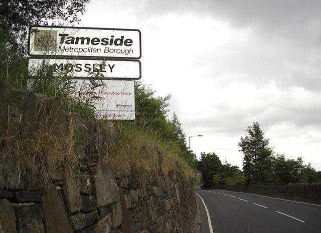 Under Lane between Oldham and Tameside boroughs