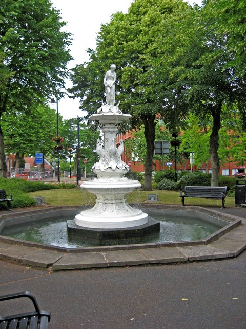 Victorian fountain, Church Green