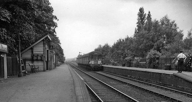 Burton Joyce Station, with train