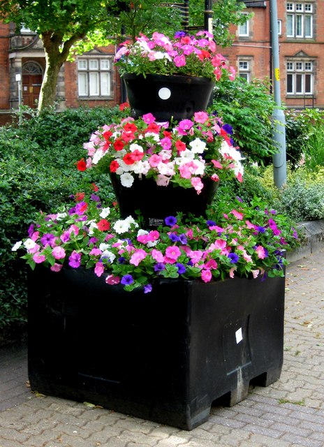 Floral display, Church Green East