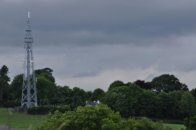 Mid Devon : Television Aerial & Countryside