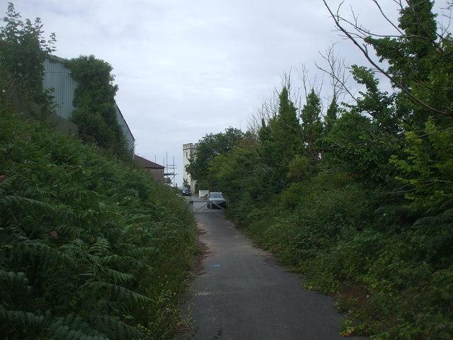 Lane in Llanedeyrn